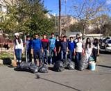 Quantum College students joined the citywide clean-up event